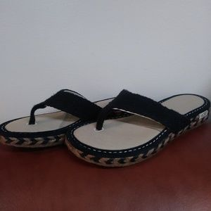 NEW UGG PLAYA BLACK SANDALS - Sz: 7
